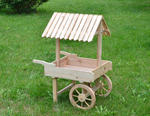 wooden planter cart
