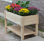 wooden planting tables