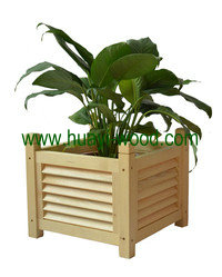solid wood flower boxes