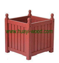wooden flower plant boxes