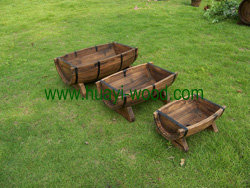 trough wooden planter boxes 3pcs