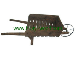 wooden wheelbarrows
