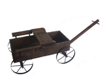 wooden planter wagon