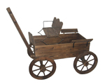garden wagon planter with seat