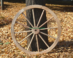 wooden decorative wagon wheels